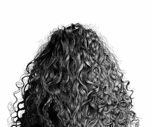 hair, curls, and drawing image