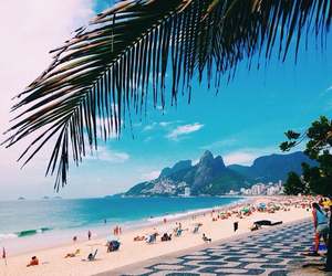 beach, rio de janeiro, and summer image