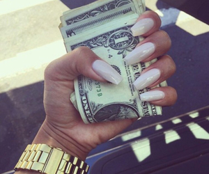 nails, money, and luxury image