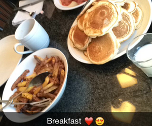 bacon, heart, and pancakes image