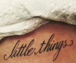 tattoo, little things, and one direction image