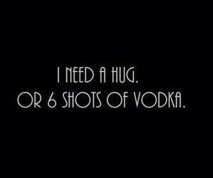 vodka, hug, and shot image