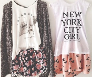 fashion, girls, and flowers image