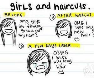 girl, hair, and haircut image