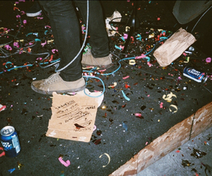 confetti, disposable, and night image