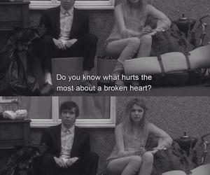 broken heart, felt, and movies image