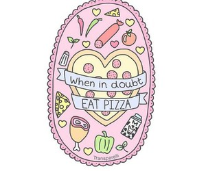 transparent and pizza image