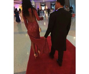 curly hair, red carpet, and cute couples image