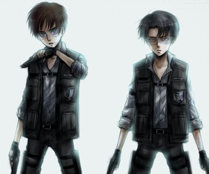 attack on titan, snk, and levi image