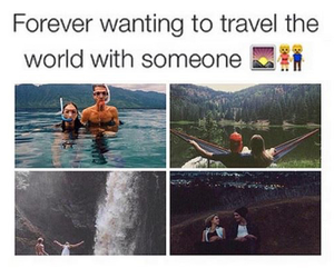 travel, love, and goals image