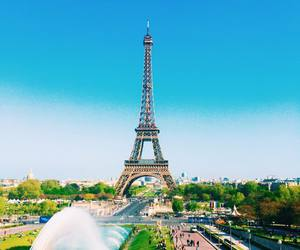 blue sky, eiffel tower, and Federico devito image