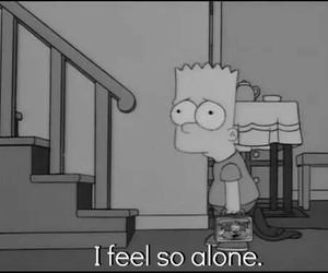 alone, bart, and sad image
