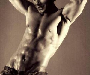jensen, amazing abs, and less is better image