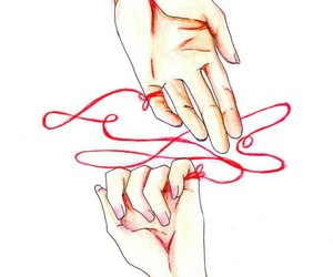 love, red, and anime image