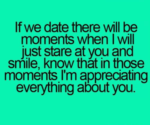 love, smile, and date image