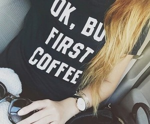coffee, black, and hair image