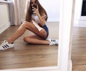 adidas, girl, and skinny image