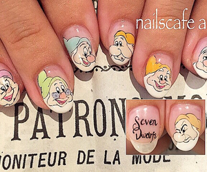 disney, nails, and seven dwarfs image