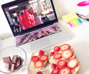 breakfast, chocolate, and summer image