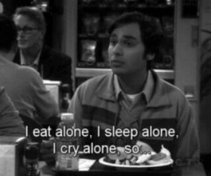 alone, cry, and the big bang theory image
