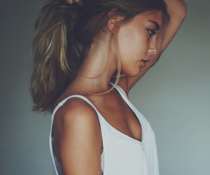 girl, crop top, and girly image
