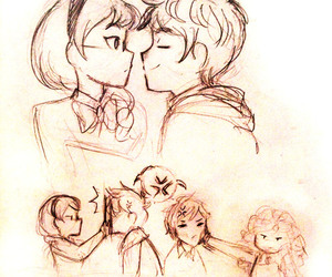 jack frost, merida, and hiccup image