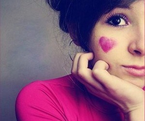 girl, face, and love image