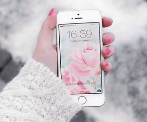 girls, iphone, and white image