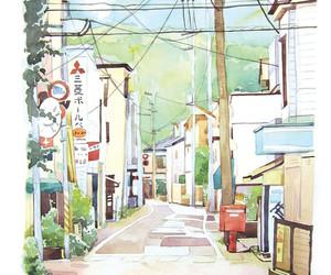 anime, art, and landscape image