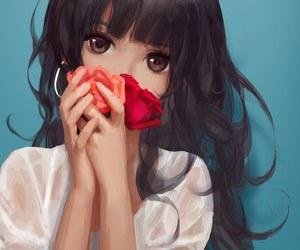 adorable, brown eyes, and kawaii image