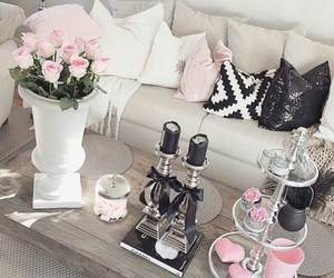 home, black, and candles image