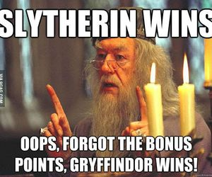 slytherin, dumbledore, and harry potter image