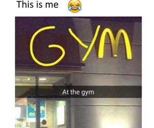 gym, funny, and McDonalds image