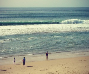beach, surf, and france image