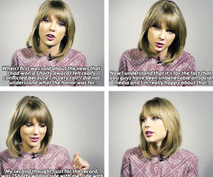 interview, quotes, and Taylor Swift image