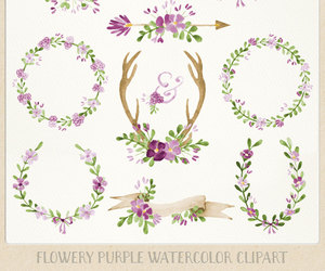 clipart, watercolor, and wedding image