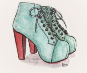 25, drawing, and jeffrey campbell image