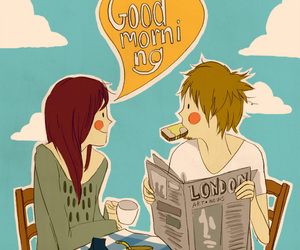 cute, breakfast, and morning image