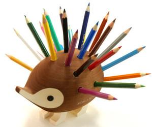cute, hedgehog, and pencil image