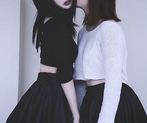 grunge, black, and couple image