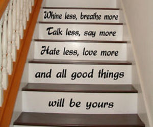 wall decals, staircase decor, and stairs decal image