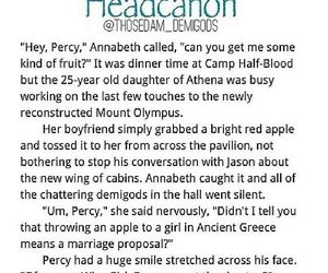 apple, percy jackson, and annabeth chase image