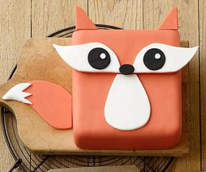 cute, cake, and fox image