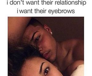 eyebrows, funny, and Relationship image
