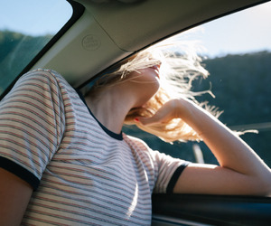 girl, car, and indie image