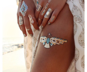 tattoo, summer, and gold image