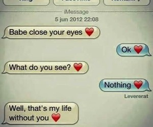 love, text, and couple image