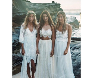 beach, bohemian, and dress image