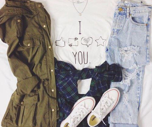 converse, outfit, and cool image