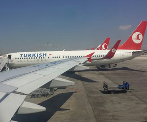 airplane, fly, and istanbul image
